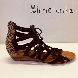 Minnetonka Boho Gladiator Wedge Sandal